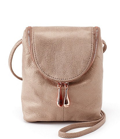 Hobo Fern Metallic Leather Crossbody Bag