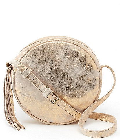 Hobo Groove Metallic Leather Circle Crossbody Bag