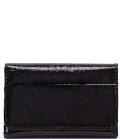 Hobo Jill Top Grain Leather Snap Trifold Wallet