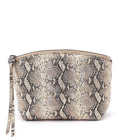 Hobo Keep Snake Print Pouch