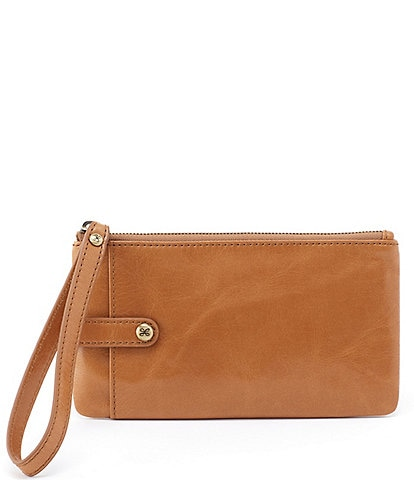 Hobo King Leather Zip Wristlet