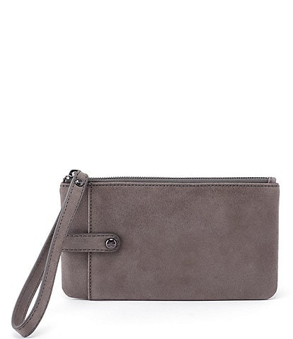 Hobo King Leather Zippered Wristlet