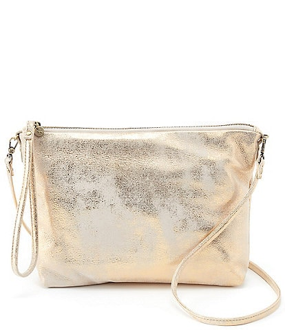 Hobo Kori Metallic Leather Top Zip Crossbody Bag