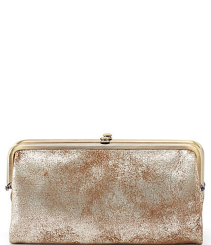 Hobo Lauren Metallic Double-Frame Wallet