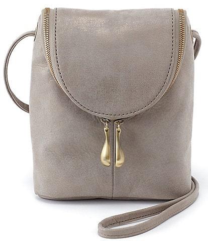 HOBO Metallic Collection Fern Leather Crossbody Bag