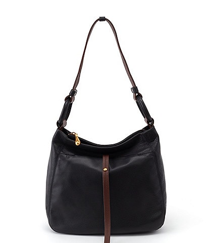 Hobo Mirage Leather Top Zip Shoulder Bag