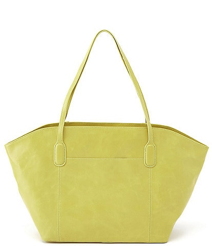 Hobo Patti Shoulder Zip Top Grain Leather Tote Bag