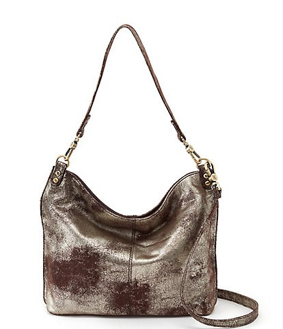 Hobo Pier Convertible Leather Snap Hobo Crossbody Bag