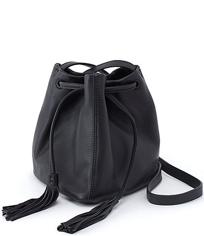 Hobo Sander Leather Drawstring Crossbody Bag
