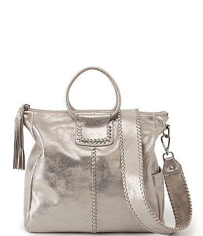 Hobo Sheila Distressed Leather Convertible Top Ring Handle Crossbody Bag