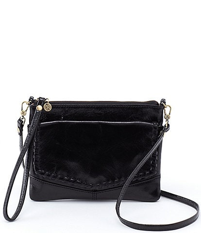 Hobo Stroll Convertible Leather Crossbody Wristlet