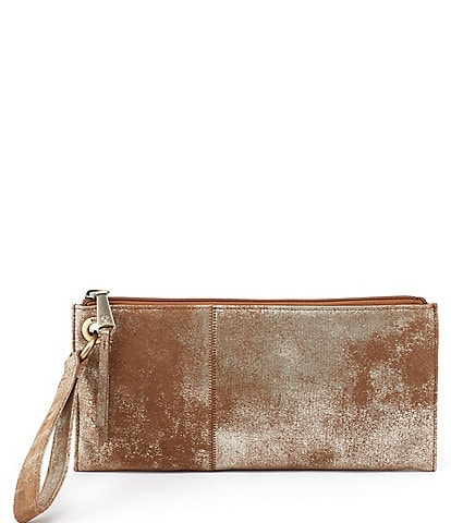 Hobo Vida Metallic Leather Zip Wristlet