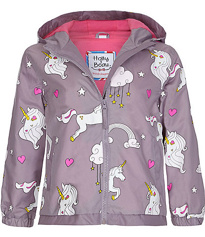 Holly & Beau Girls 2-5 Unicorn Color-Changing Raincoat
