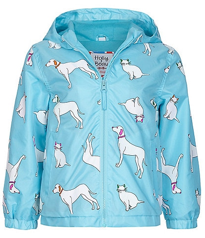 Holly & Beau Girls 2-8 Cats & Dogs Color-Changing Raincoat