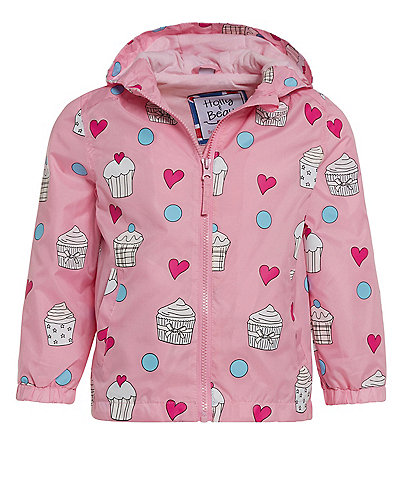 Holly & Beau Little Girls 2-8 Color-Changing Cupcake Raincoat