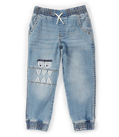 Hollywood Little Boys 2T-7 Monster-Face Denim Jogger Pants