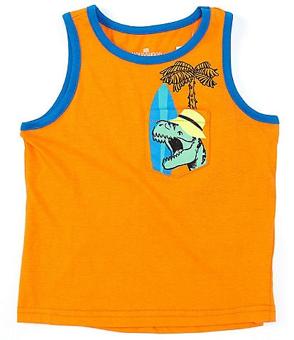Hollywood Little Boys 4-7 Dino Pocket Tank Top