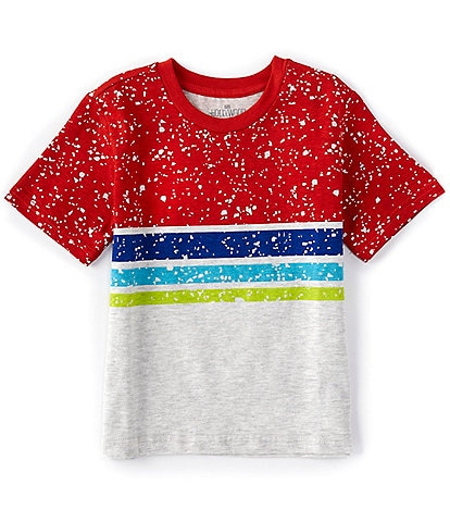 Hollywood Little Boys 4-7 Short-Sleeve Colorblock Stripe Tee