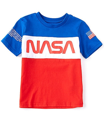 Hollywood Little Boys 4-7 Short-Sleeve NASA Colorblock Tee