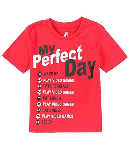 Hollywood Little Boys 4-7 Short-Sleeve Perfect Day Video Games Tee