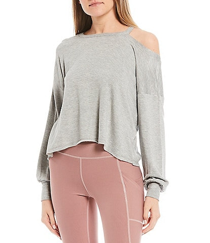 Honey & Sparkle Cold Shoulder Pullover