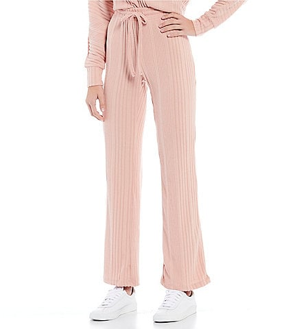 Honey & Sparkle Coordinating Brushed Variegated Ribbed Pants