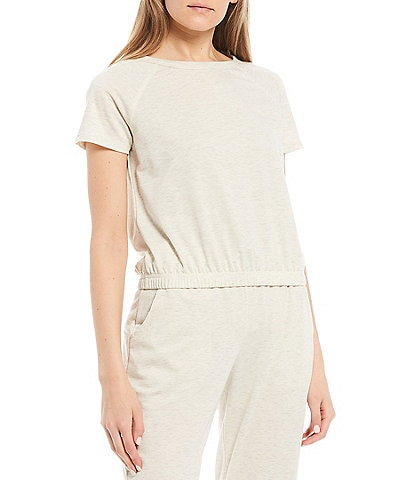 Honey & Sparkle Coordinating Short-Sleeve French Terry Knit Top