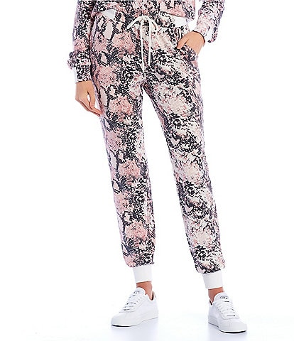 Honey & Sparkle Coordinating Snake Print Jogger Pants
