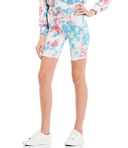 Honey & Sparkle Coordinating Tie-Dye Biker Shorts