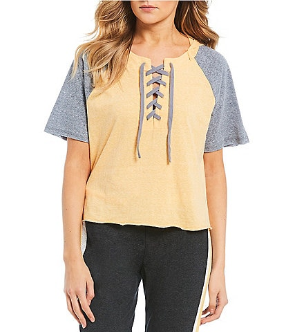 Honey & Sparkle Lace Up Hooded Tee