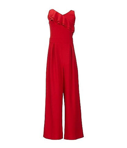 Honey And Rosie Big Girls 7-16 Asymmetrical Ruffle Jumpsuit