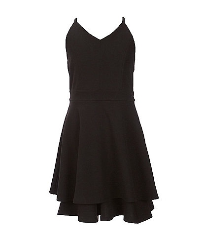 Honey and Rosie Big Girls 7-16 Double Hem Fit & Flare Dress