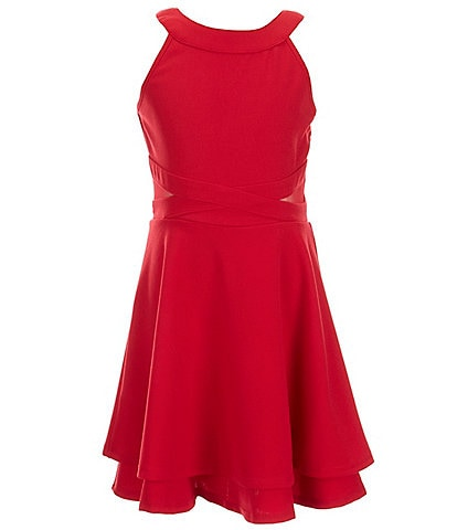 Honey and Rosie Big Girls 7-16 Illusion Two-Tiered Dress