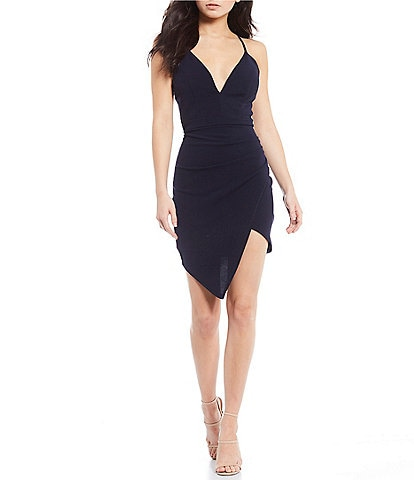 Honey and Rosie Bra-Back Asymmetric Wrap Dress