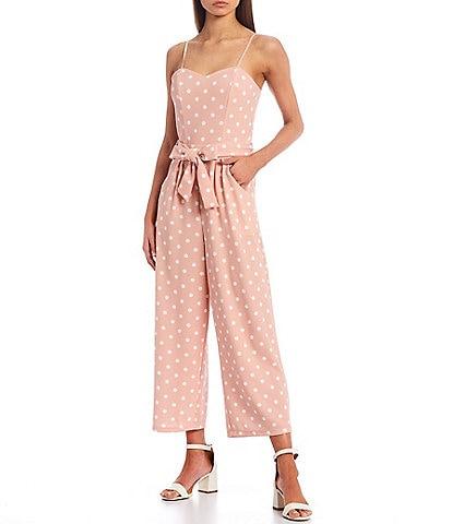 Honey and Rosie Dot Print Crepe Jumpsuit