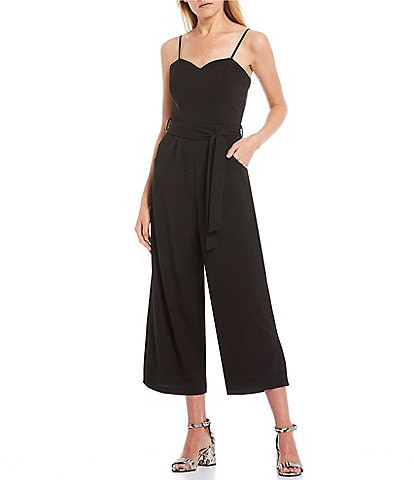 Honey and Rosie Spaghetti Strap Tie-Waist Jumpsuit
