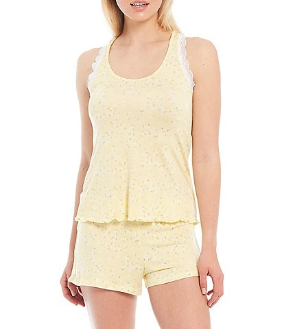 Honeydew Intimates All American Ditsy Floral Print Shorty Jersey Knit Pajama Set