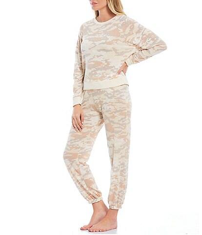 Honeydew Intimates Camouflaged Print Brushed Jersey Long Sleeve Lounge Set