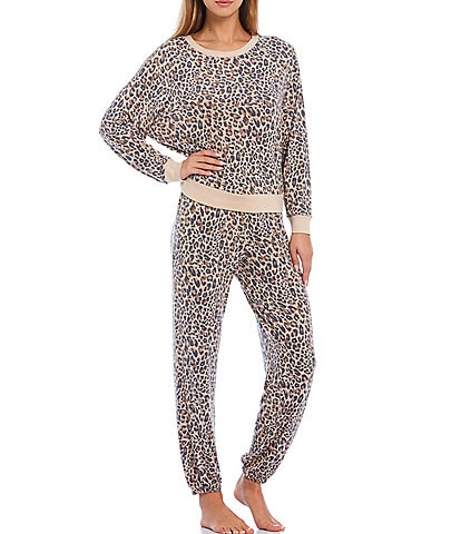 Honeydew Intimates Star Seeker Brushed Jersey Leopard Lounge Set