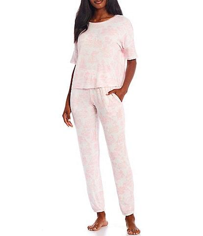 Honeydew Intimates Toile Print French Terry Pajama Set