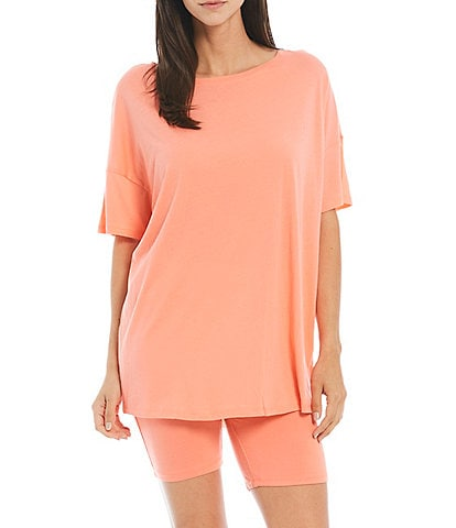 Honeydew Intimates Travel Light French Terry Short Sleeve Top & Shorts Coordinating Lounge Set
