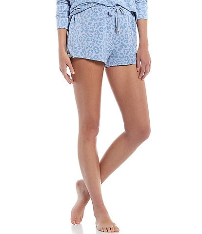 Honeydew Starlight Leopard Print French Terry Lounge Shorts