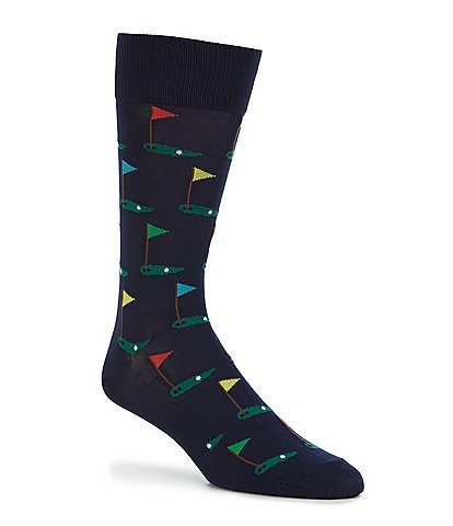 Hot Sox Novelty Golf Crew Socks