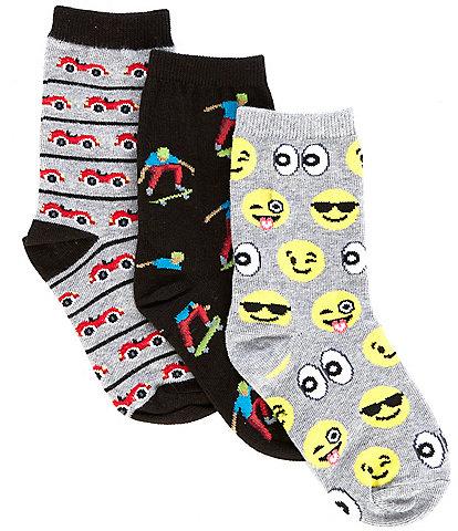 Hot Sox Kids 3-Pack Fun Variety Socks