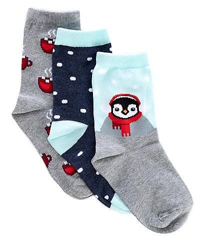 Hot Sox Kids 3-Pack Hot Cocoa Penguin Socks