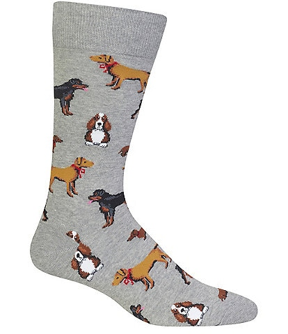 Hot Sox Novelty Multi Dog Crew Socks