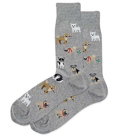 Hot Sox Novelty Dogs Of The World Crew Socks