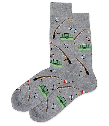 Hot Sox Novelty Fishing Crew Socks