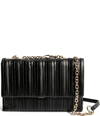 House of Want H.O.W. We Step Up Pleated Leather Shoulder Bag