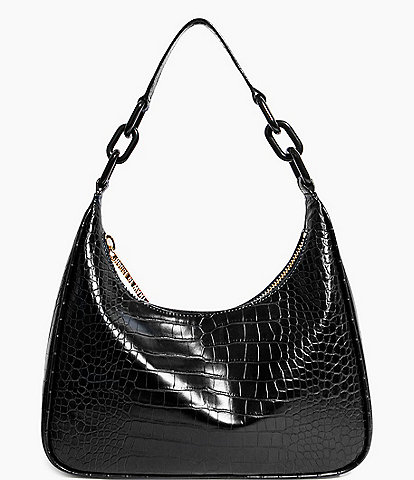 House of Want Newbie Croco Vegan Leather Hobo Bag